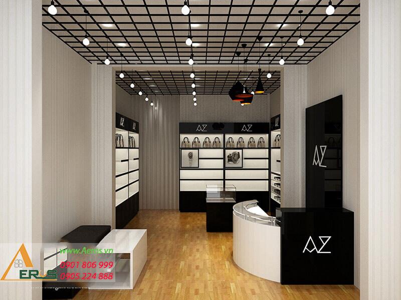Thiết kế cửa hàng đồng hồ đẹp sang trọng và hiện đại