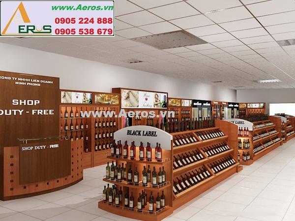 Thiết kế showroom rượu đẳng cấp và sành điệu